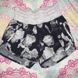Flower Lululemon shorts